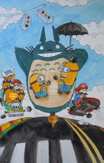 totoro_wins_mario_kart__by_creepingmoss-d51vbnm